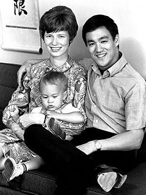 LINDA LEE, BRANDON LEE and BRUCE LEE, c. 1970