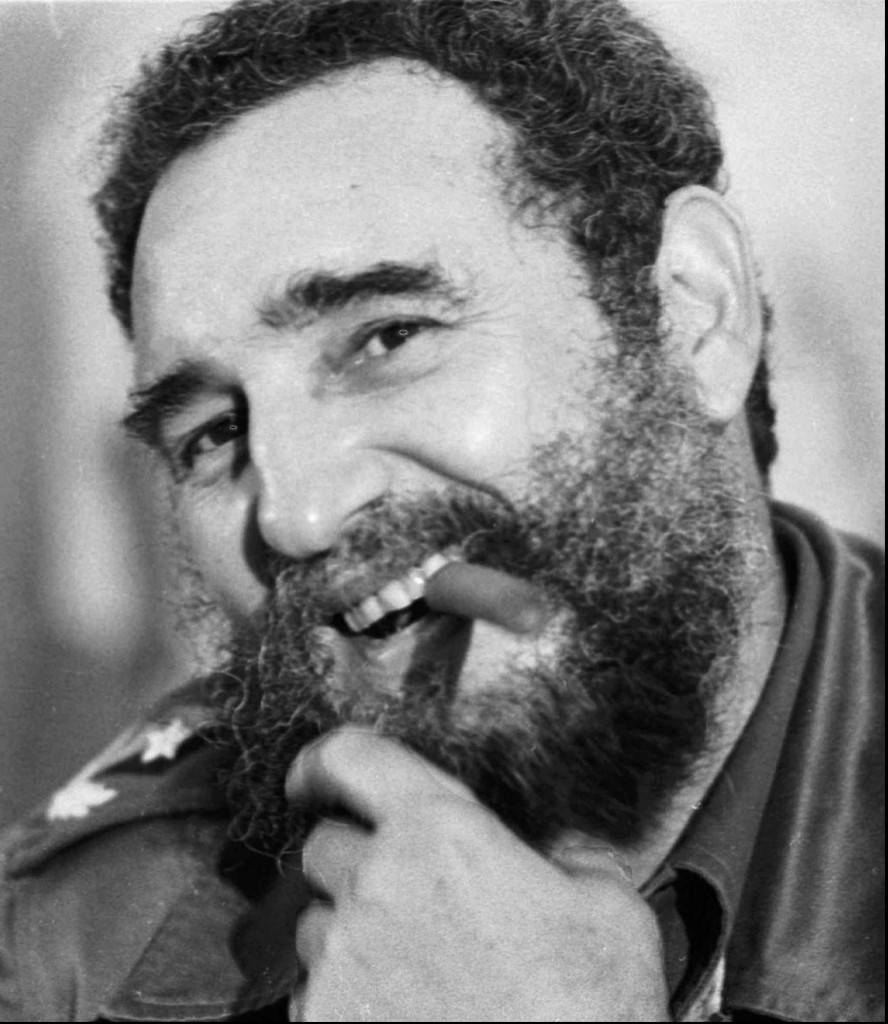 Cuban President Fidel Castro smiles as he smokes a cigar during a press conference in a 1978 photo. The Cohiba cigar will turn 30 on Friday, Feb. 28th. The Cohiba cigar was the first created under a Communist Cuba. A celebration is planned in Havana to celebrate the birthday. The Cohiba is still today one of the most sought after cigars by smokers. (AP Photo/Phil Sandlin)